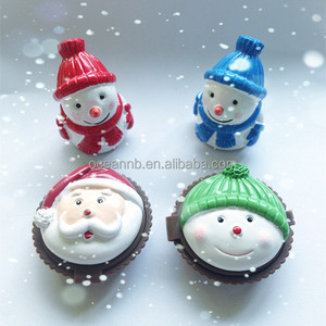 Merry Christmas cupcake shaped cute lip gloss