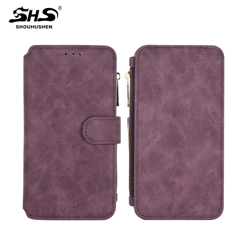 SHS Multi Wallet Card Slot Removable Flip PU Leather Cell Phone Case for Samsung S7 Edge