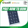 ISO/CE/IEC/CSA certificate 80w monocrystalline silicon solar panel on sale