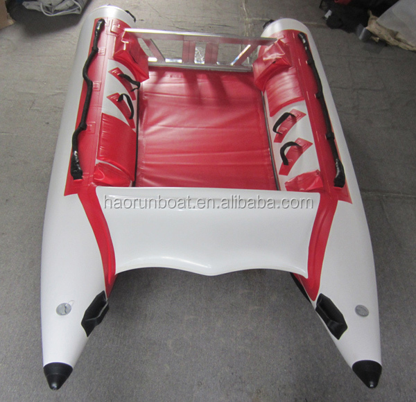 4.1m sports boat/inflatable speed boat/catamaran double tubes yatch surfing boat