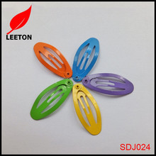 Colorful oval shaped baby snap hair clips