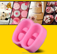 Lastest JS Cake Silicone Baby Booties Fondant Mold,Silicone Shoes Cake Mould