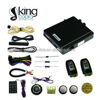 2014 newest model! PKE car alarm car smart key system with engine push button start