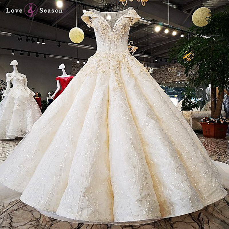 Ls96542 Ball Gown Wedding Dress Patterns Elegant Lace Up Long Train