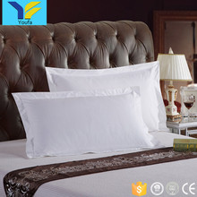 High quality white 300TC 100% cotton percale queen size plain hotel pillow case cover