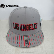 LOS ANGELES embroidery snapback hiphop flat cap popular around the world made in taizhou jiangsu