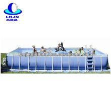Factory price portable rectangular metal frame pool