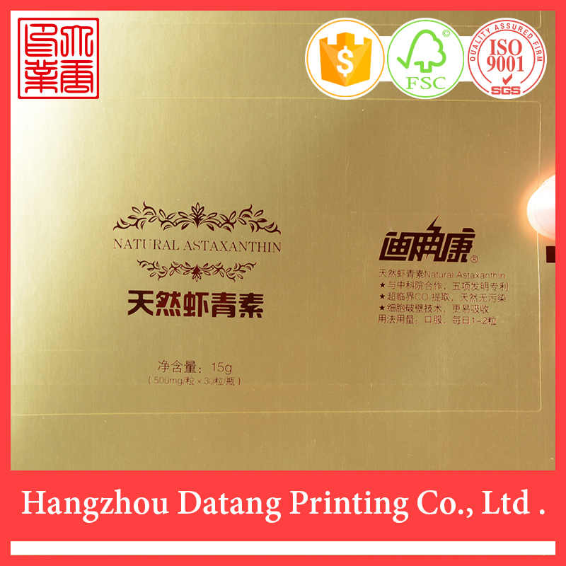 2015 china cheap custom gold temperature indicator label