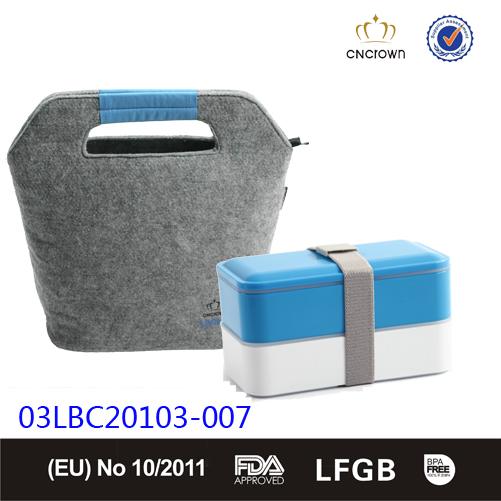 Cooler bag, leakproof cup and stack up lunch box 3pcs lunch set on sale