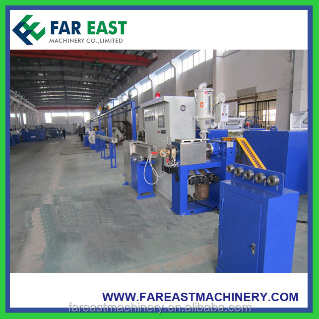 Shanghai pvc insulated teflon wire and cable extrution machine cable wire production line