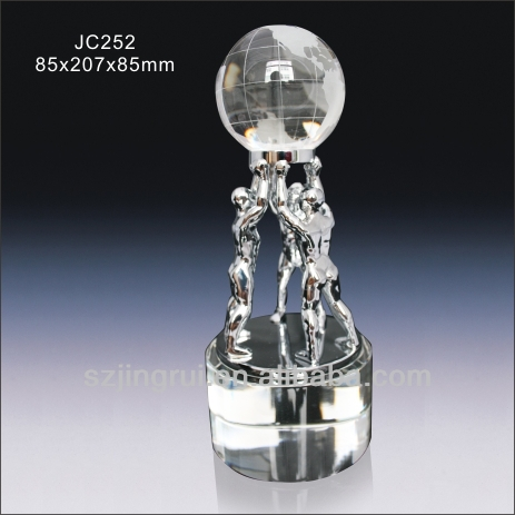 creative crystal globe award