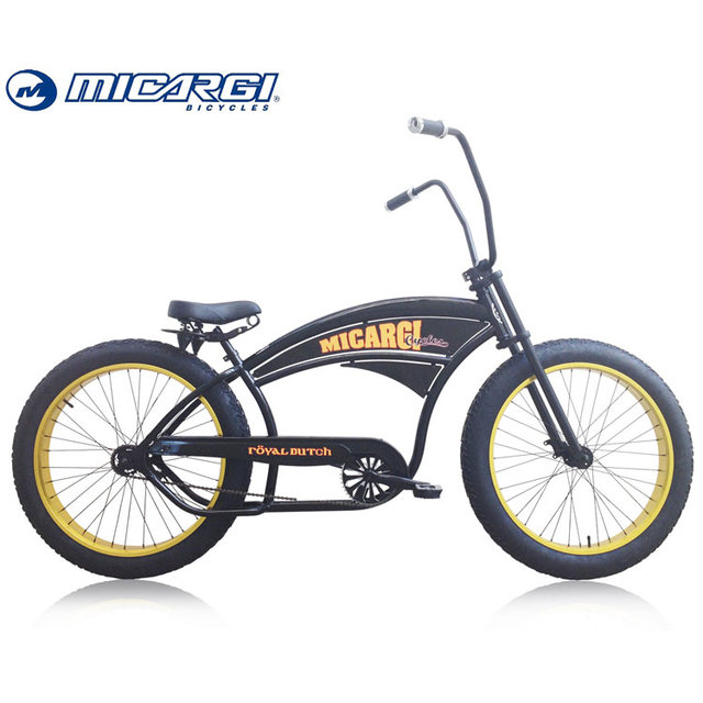 Micargi OEM fat tire beach cruiser bikes ROYAL DUTCH 26 Hi Riser Bar Chopper Bicycles
