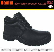 HL-A144 Cheap price basic upper design black steel toe cap safety shoes
