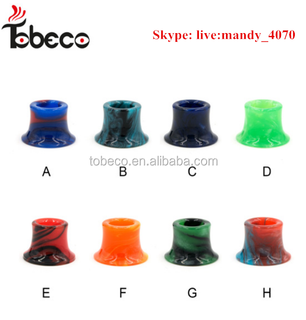 Tobeco 22mm&25mm ss&black 510 drip tip adapter