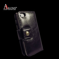 Wallet leather book case cover for iphone 5c case