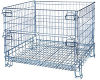 Warehouse foldable stackable welded wire mesh cages