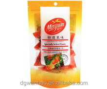 Custom Stand up Laminated Ziplock bag With hanger for food packaging