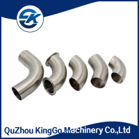 sanitary pipe fitting stainless steel clamped 45 degree elbow