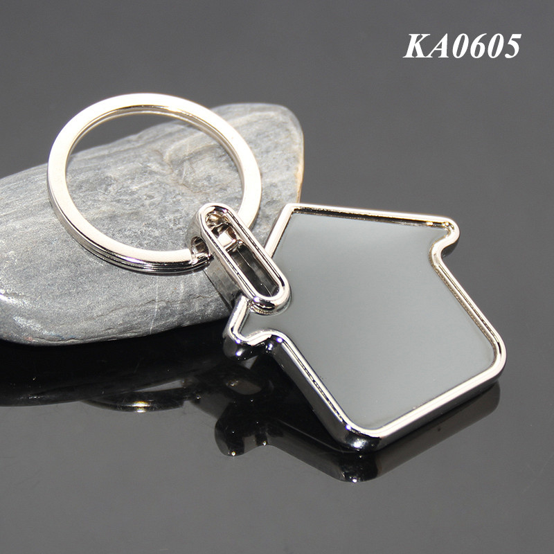 Personalized Blank Metal Alloy House Key Chain Keyring New Home Gifts Birthday Custom Or Wholesale House Keyring