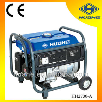 Yamaha type engine, 2KW gasoline generator with wheels and handle