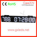 White large 7 segment led digital countdown display