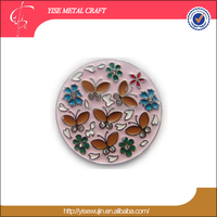 Round Handbag Holder Wholesale Gift Items Enamle Purse Hooks Colorful Butterflies with Flowers Cloisonn Table Top Bag Hanger