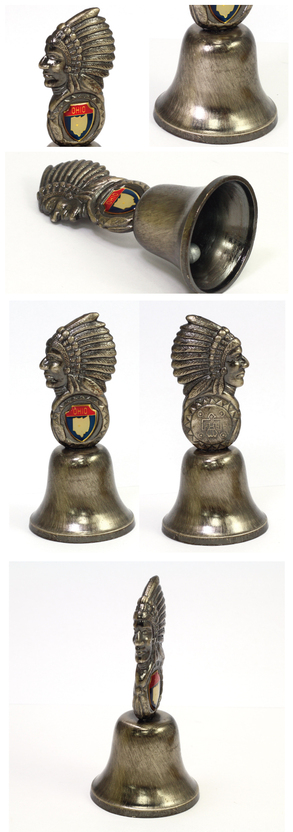 Wholesale custom design Indians metal call bell/meal bell