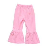 Pink princess style baby ruffle pants leggings 100% cotton baby girls ruffle pants