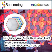 2016 Innovative New DIY Design RGB 3D 12V Led Disco Club Stair Wall Light