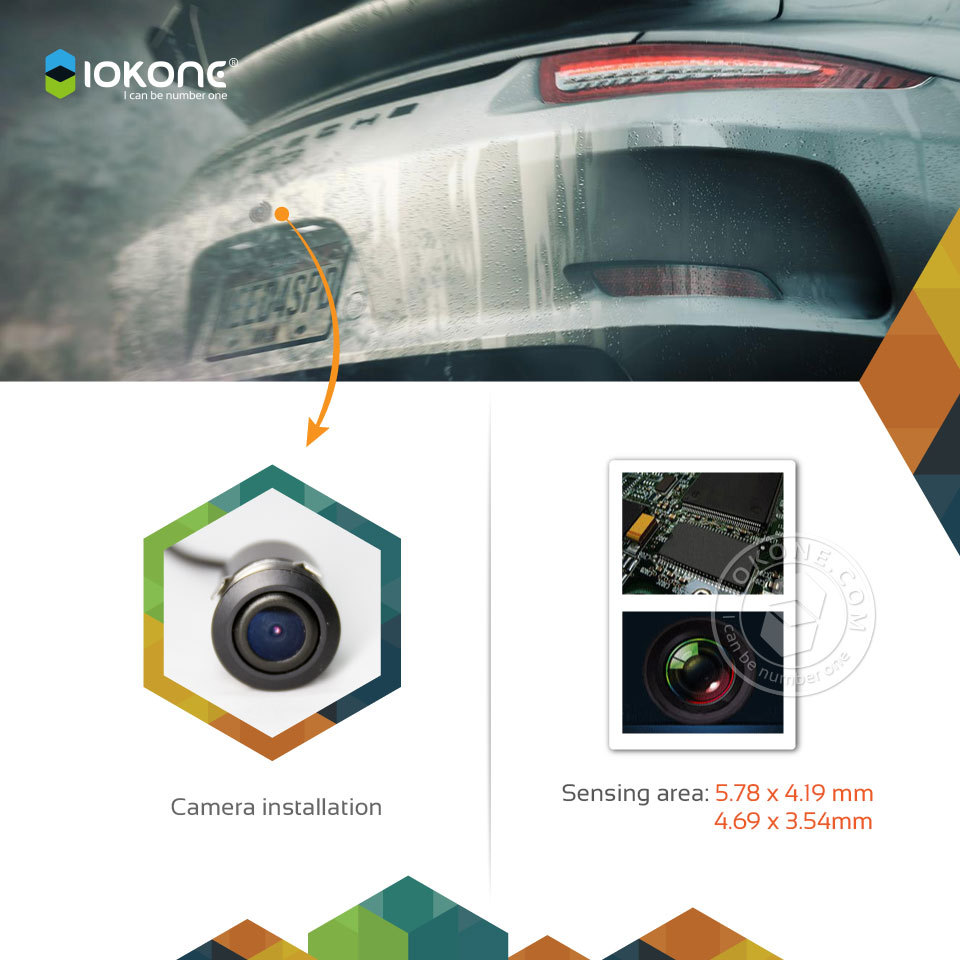 IOKONE wireless reverse waterproof universal car rear view camera