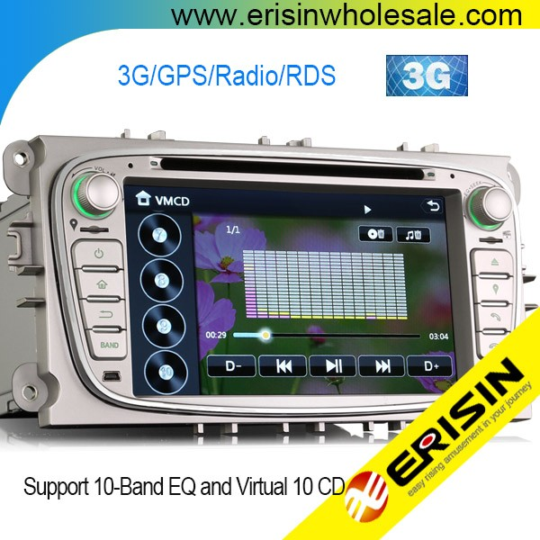 "Erisin ES7189F 7"" Auto Radio Car Audio System DVD GPS Navigator for Mondeo"