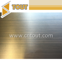 Stainless Steel Colored Decoration Plate Black Hairline Stainless Steel Sheet