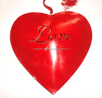 Beautiful gift item christmas decoration red hanging heart