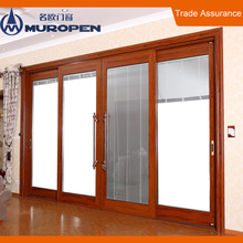 Aluminum frame glass door tempered sliding glass door