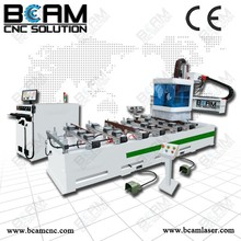 High technology cnc mills with side sawing drilling / ATC single arm solid wood door cnc router machine