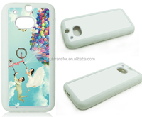 2D Sublimation Phone Case/diy printable customized phone case for HTC M8