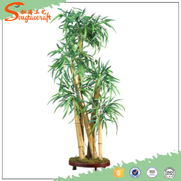 2016 New sale Artificial bonsai leaves green artificial bamboo tree tall songtao bamboo