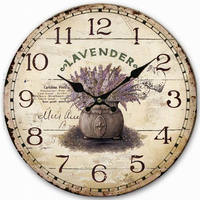 Wholesale Cheap OEM home goods quartz wooden wall clock for promotion gift