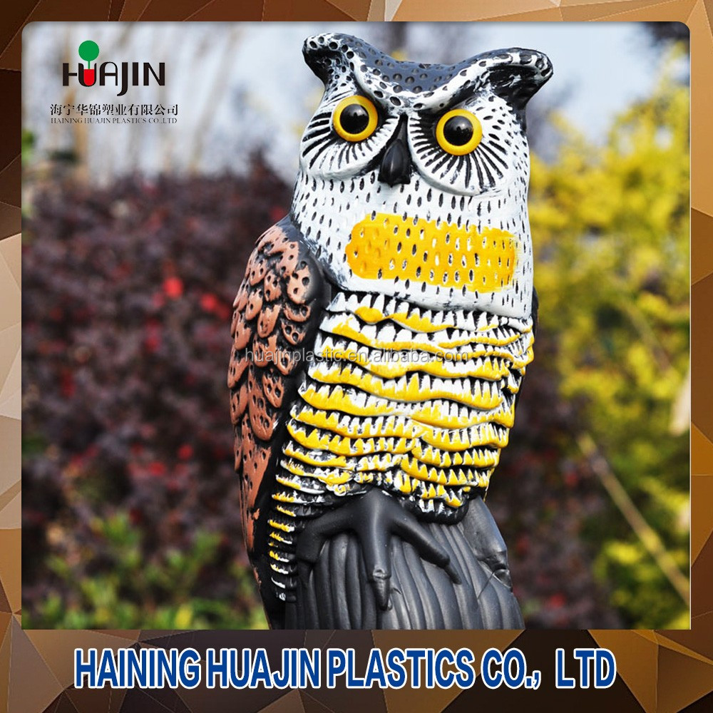 Fun painting plastic outdoor tree garden ornaments owls