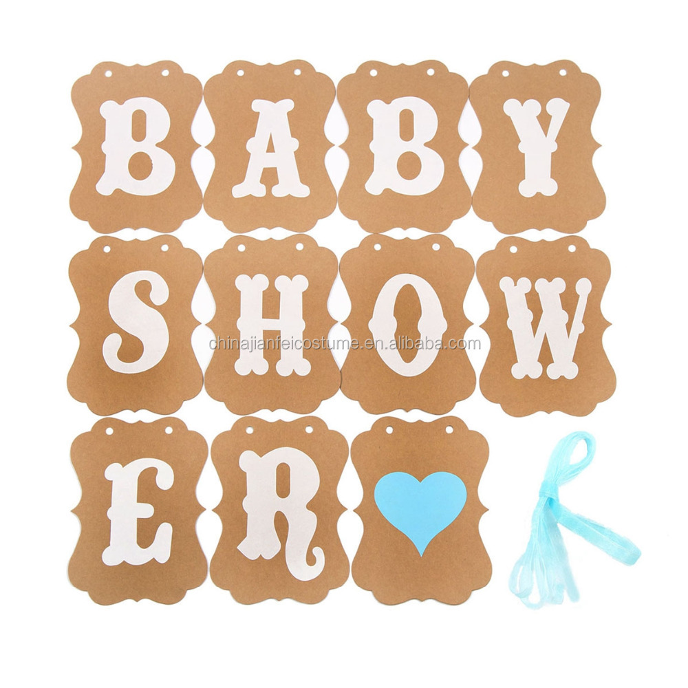 New Material Baby Shower Decorations Party Banner IT A BOY Letter Banner Bunting