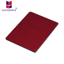 ALUCOWORLD 3mm 4mm Stone Finish Aluminium Composite Panel exterior wall covering plastic exterior wall panel