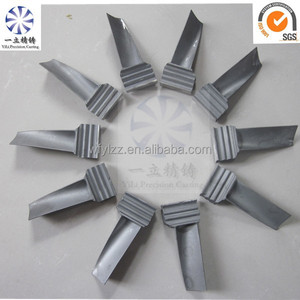OEM lost wax high precision inconel vacuum castings billet steam turbine blade for turbo parts