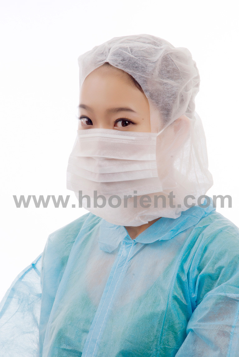 Surgical nonwoven PP hood astronaut cap with face mask