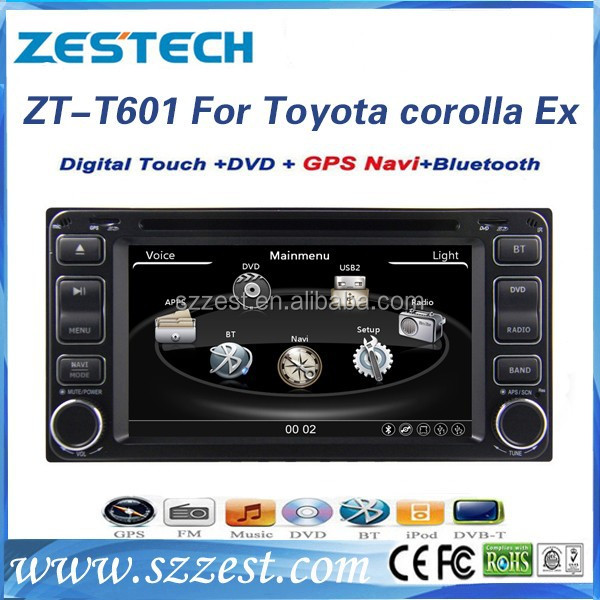car dvd navigation for Toyota universal audio dvd player gps 3G ZT-T601