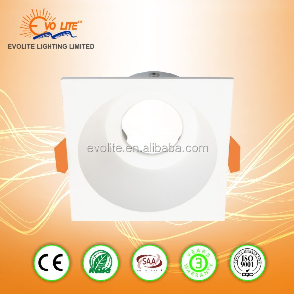 Square LED Ceiling Downlight Mounting Ring Housing Lamp