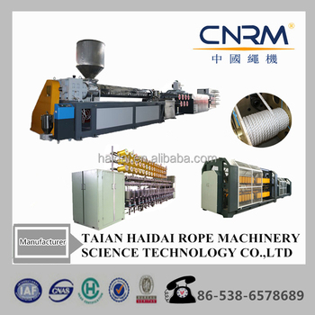 pp pe plastic recycled yarn extrusion line / hdpe plastic rope making machine / pe net yarn extruder