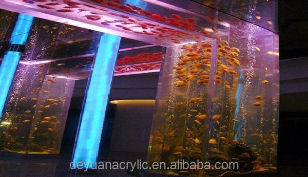 acrylic for Aquarium/ Cutomize big size acrylic Aquariums