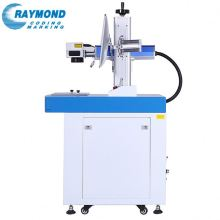 Optical 10W 20W 30W fiber laser marking machine on silver jewelry with mini fiber Color laser marking machine