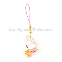 hot sell hello kitty mobile phone charm, made by zinc alloy with epoxy coat