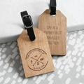 Nice Design Wholesale Custom Logo Wood Travel Luggage Tag for Promotional Gift